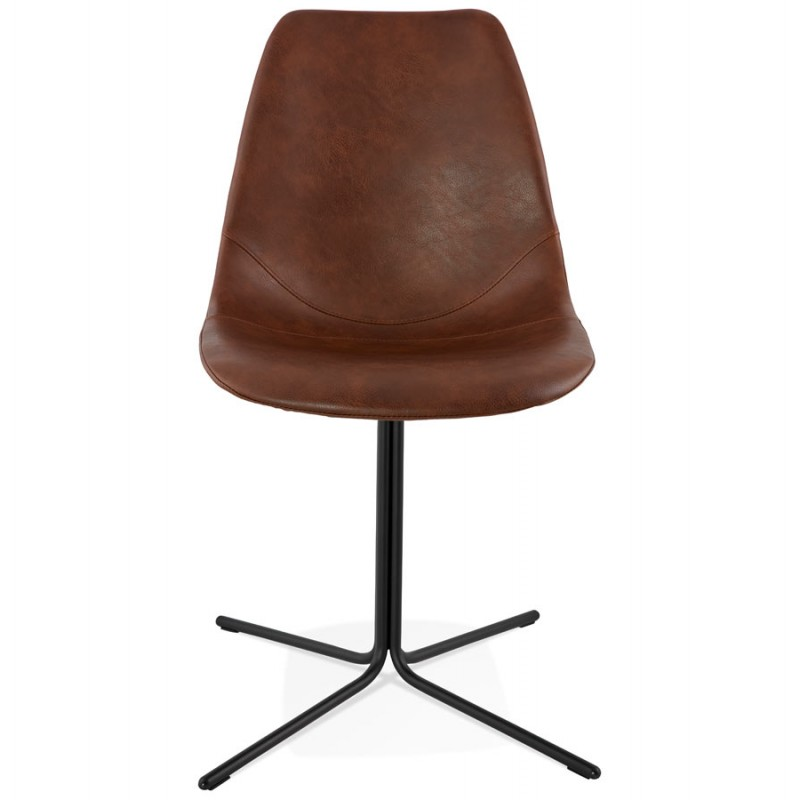 Chaise industrielle OFEN en polyuréthane et métal peint (marron, noir) - image 28994