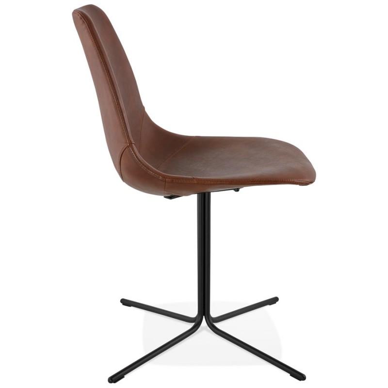 Chaise industrielle OFEN en polyuréthane et métal peint (marron, noir) - image 28995