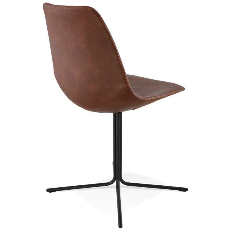 Chaise industrielle OFEN en polyuréthane et métal peint (marron, noir) - image 28996
