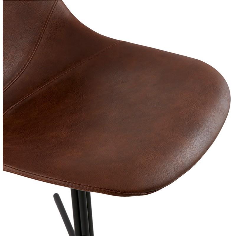 Chaise industrielle OFEN en polyuréthane et métal peint (marron, noir) - image 28998