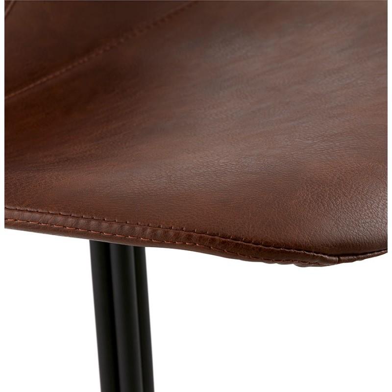 Chaise industrielle OFEN en polyuréthane et métal peint (marron, noir) - image 29001