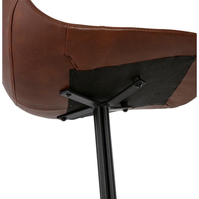 Chaise industrielle OFEN en polyuréthane et métal peint (marron, noir) - image 29005
