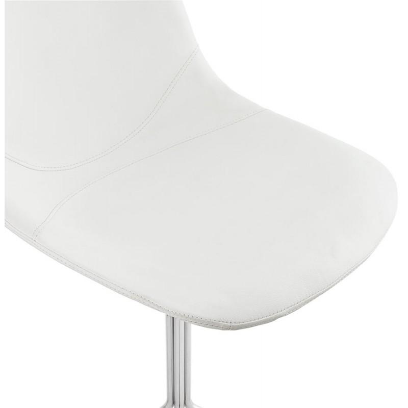 Chaise design OFEN en polyuréthane et métal chromé (blanc, chrome) - image 29029