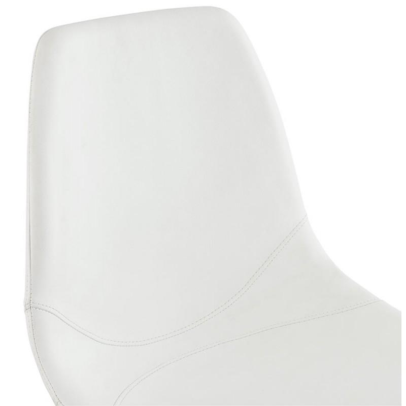 Chaise design OFEN en polyuréthane et métal chromé (blanc, chrome) - image 29030
