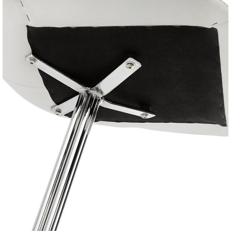 Chaise design OFEN en polyuréthane et métal chromé (blanc, chrome) - image 29033