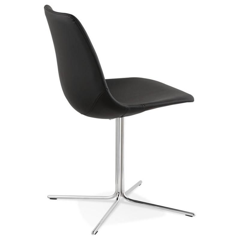 Chaise design OFEN en polyuréthane et métal chromé (noir, chrome) - image 29039