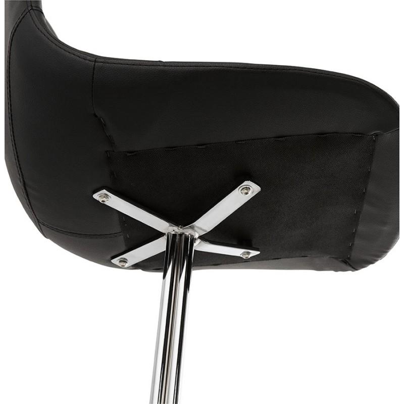 Chaise design OFEN en polyuréthane et métal chromé (noir, chrome) - image 29045