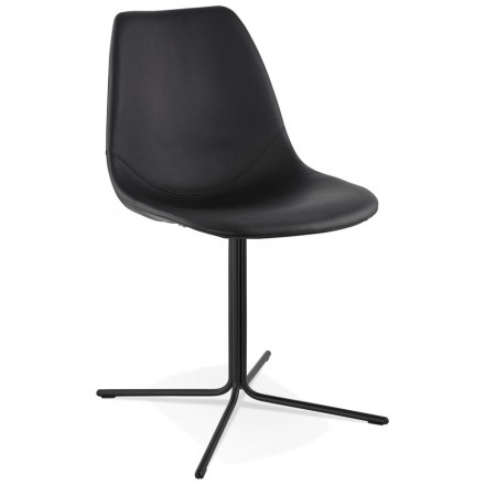 Design chair OFEN in polyurethane and painted metal (black)