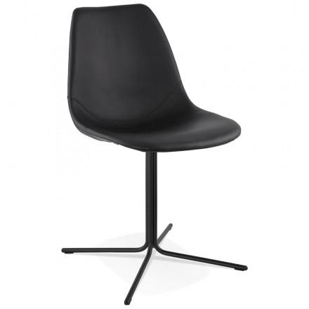 Chaise design OFEN en polyuréthane et métal peint (noir)