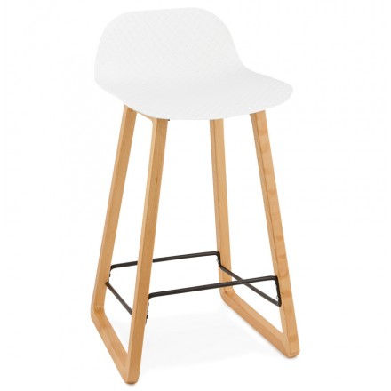 Stool barstool Scandinavian mid-height SCARLETT MINI (white)