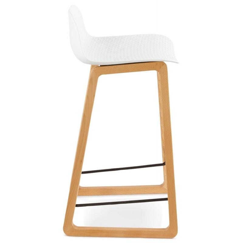Tabouret chaise de bar mi hauteur scandinave scarlett blanc - Chaise de bar hauteur 60 cm ...