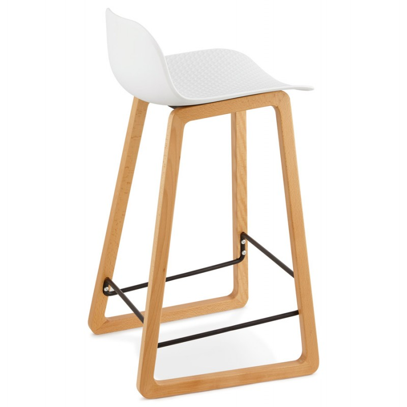 tabouret chaise de bar mi hauteur scandinave scarlett blanc. Black Bedroom Furniture Sets. Home Design Ideas