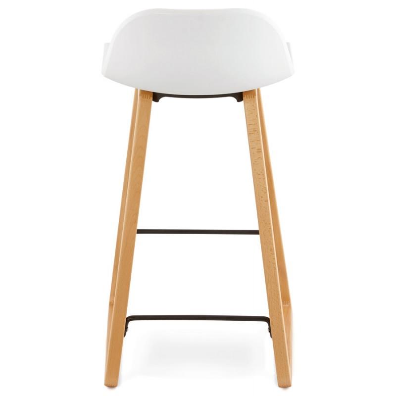 Tabouret de bar chaise de bar mi-hauteur scandinave SCARLETT MINI (blanc) - image 29066
