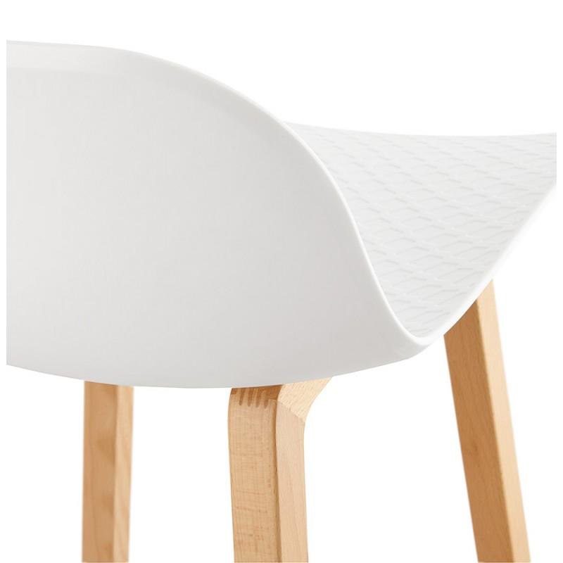 Tabouret de bar chaise de bar mi-hauteur scandinave SCARLETT MINI (blanc) - image 29068