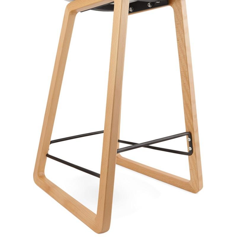 Tabouret de bar chaise de bar mi-hauteur scandinave SCARLETT MINI (blanc) - image 29071