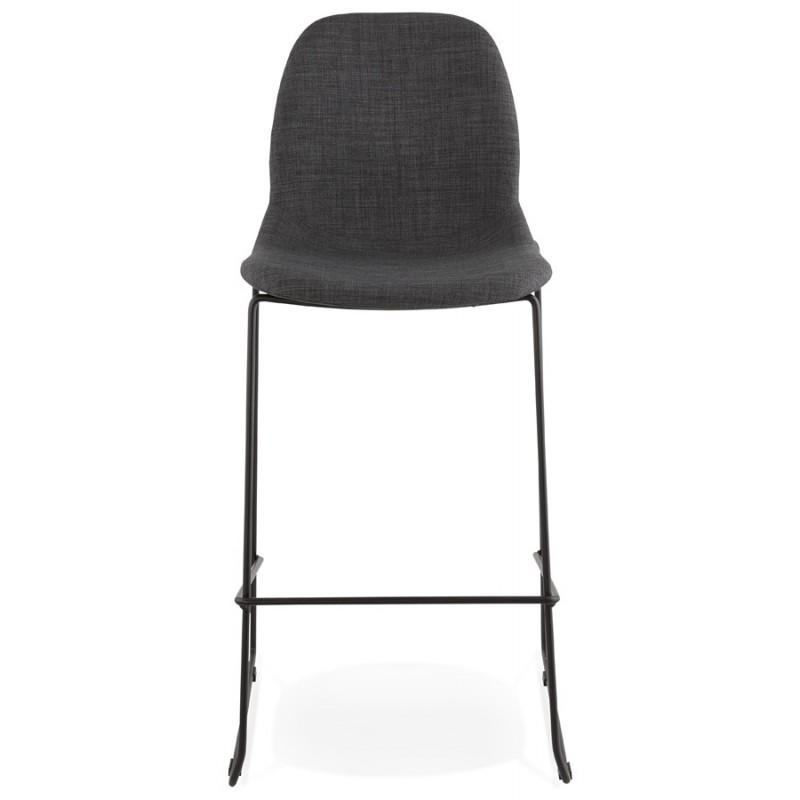 Tabouret de bar chaise de bar design empilable DOLY en tissu (gris foncé) - image 29076