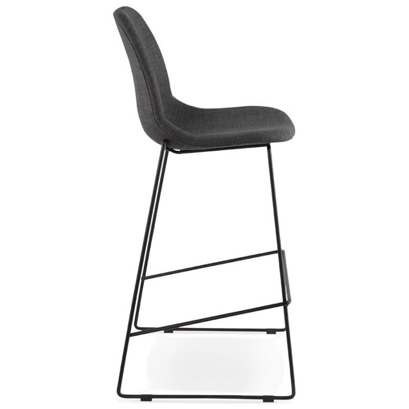 tabouret chaise de bar design doly en tissu gris fonc. Black Bedroom Furniture Sets. Home Design Ideas