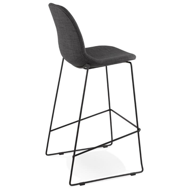 Tabouret de bar chaise de bar design empilable DOLY en tissu (gris foncé) - image 29078