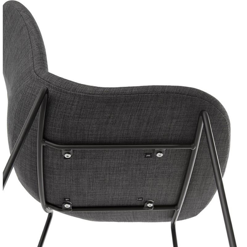 Tabouret de bar chaise de bar design empilable DOLY en tissu (gris foncé) - image 29083