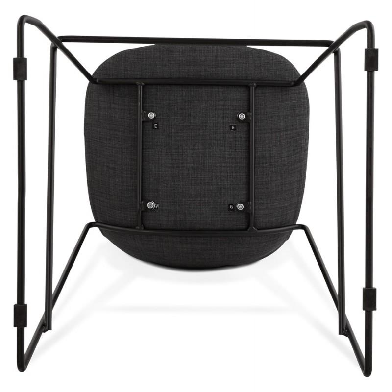 Tabouret de bar chaise de bar design empilable DOLY en tissu (gris foncé) - image 29087