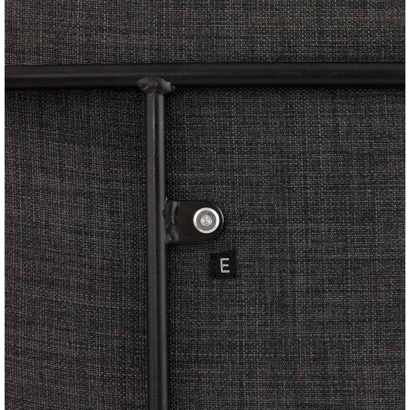 Tabouret de bar chaise de bar design empilable DOLY en tissu (gris foncé) - image 29088