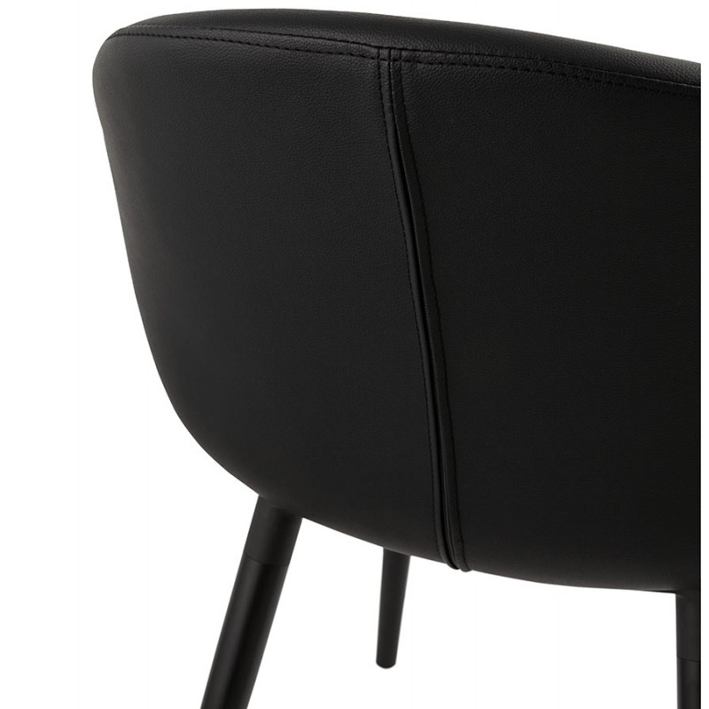 Fauteuil chaise design et moderne ORLY (noir) - image 29098