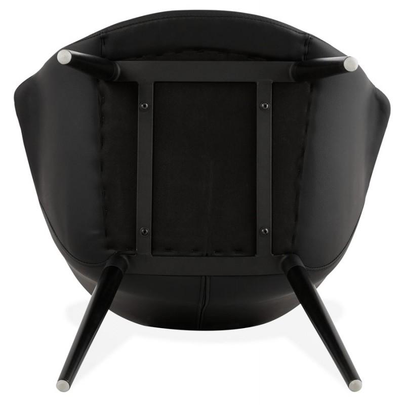 Fauteuil chaise design et moderne ORLY (noir) - image 29102