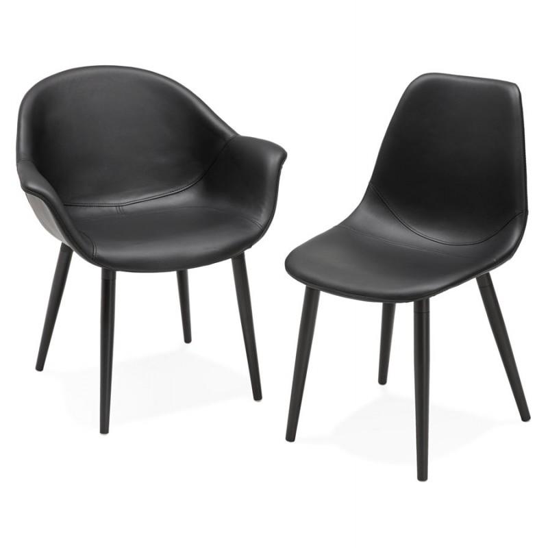 Fauteuil chaise design et moderne orly noir - Fauteuil chaise design ...