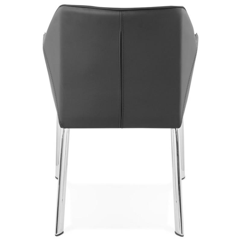 Fauteuil chaise design et rétro MATEO (noir) - image 29109