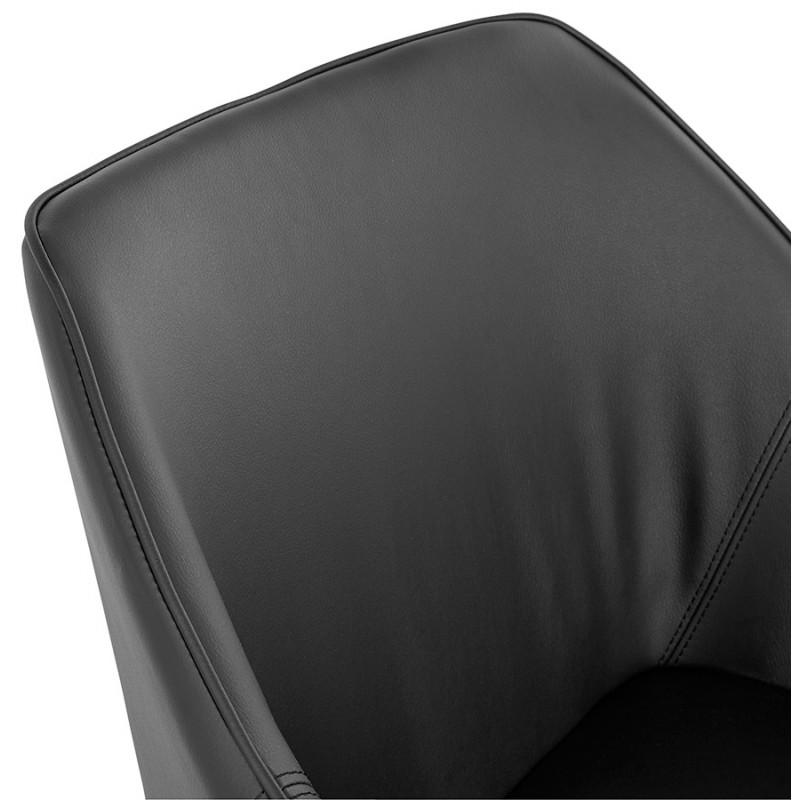Fauteuil chaise design et rétro MATEO (noir) - image 29111