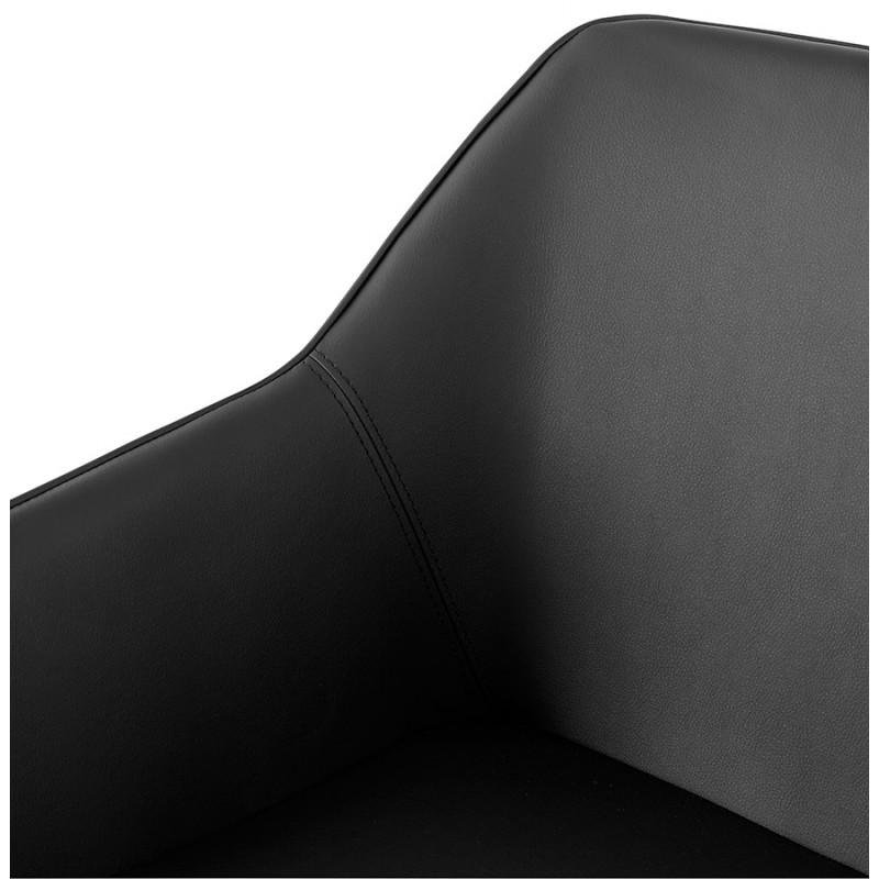 Fauteuil chaise design et rétro MATEO (noir) - image 29112
