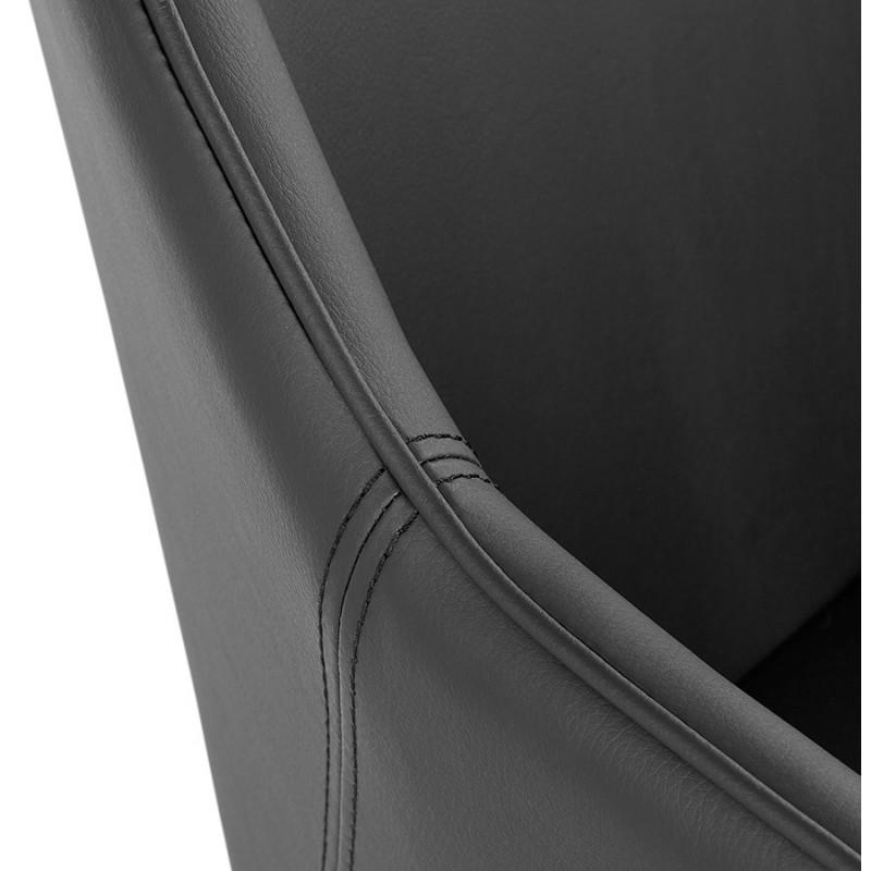 Fauteuil chaise design et rétro MATEO (noir) - image 29113