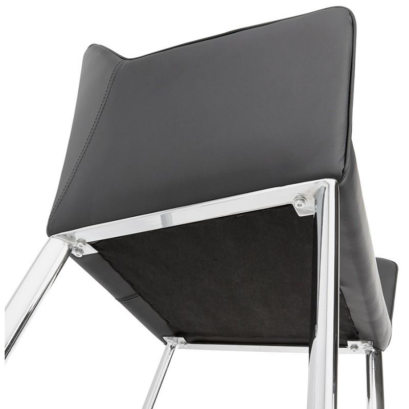 Fauteuil chaise design et rétro MATEO (noir) - image 29116