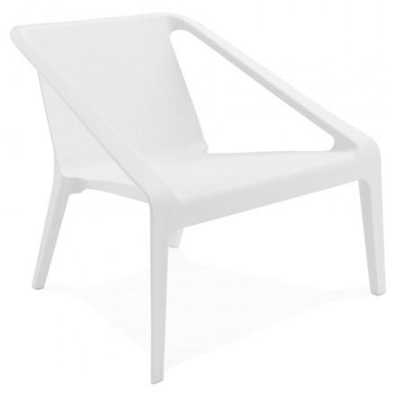 Silla de diseño relax jardín SUNY (blanco)