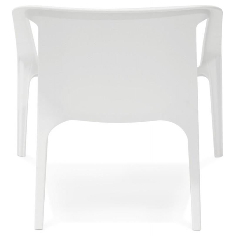 Fauteuil de jardin relax design SUNY (blanc) - image 29150