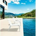Fauteuil de jardin relax design SUNY (blanc)