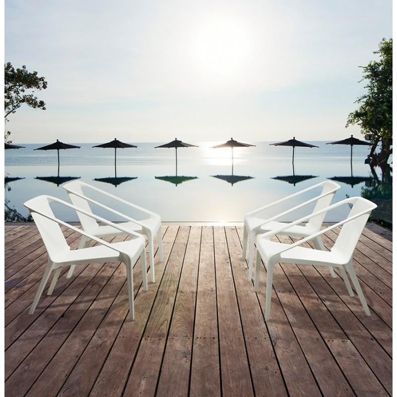 Fauteuil de jardin relax design SUNY (blanc) - image 29158