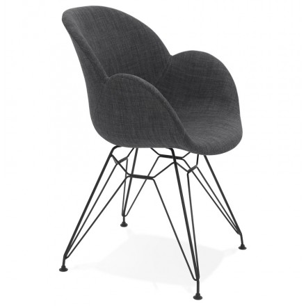 Design chair TOM industrial style fabric (dark gray)