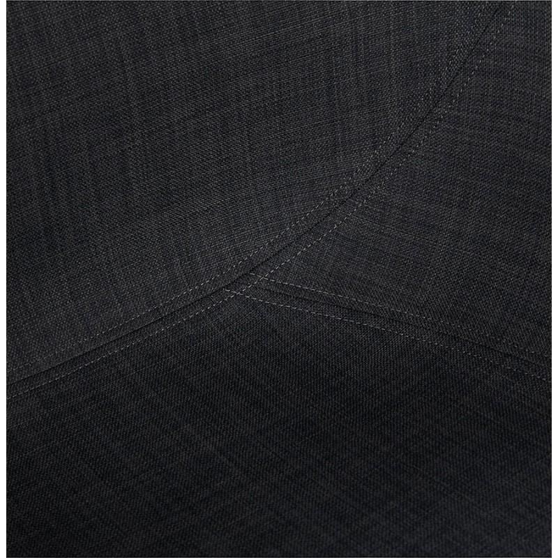 Chaise design style industriel TOM en tissu pied métal noir (gris foncé) - image 29164