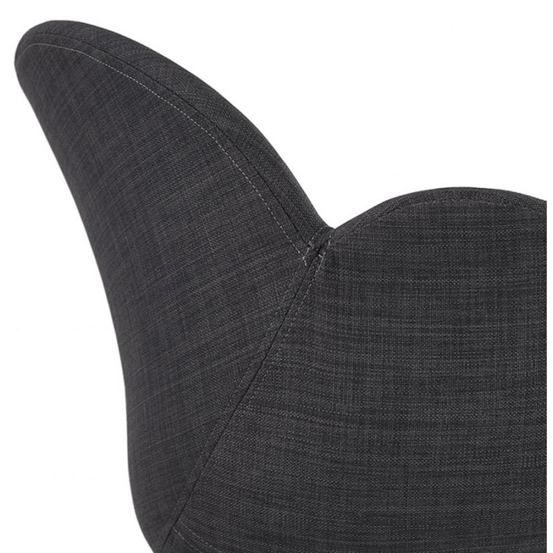 Chaise design style industriel TOM en tissu pied métal noir (gris foncé) - image 29165