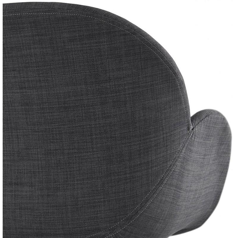 Chaise design style industriel TOM en tissu pied métal noir (gris foncé) - image 29167
