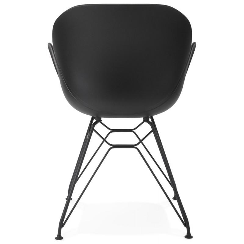 Chaise design style industriel TOM en polypropylène pied métal noir (noir) - image 29175