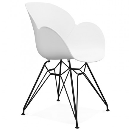 Design chair TOM industrial style (white) polypropylene