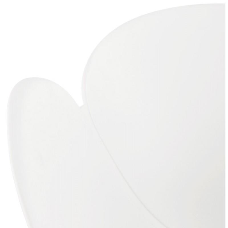 Chaise design style industriel TOM en polypropylène pied métal noir (blanc) - image 29191