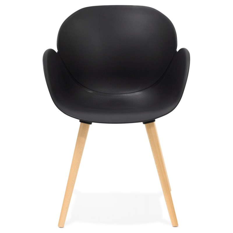 Diseño de polipropileno de silla estilo escandinavo LENA (negro) - image 29213
