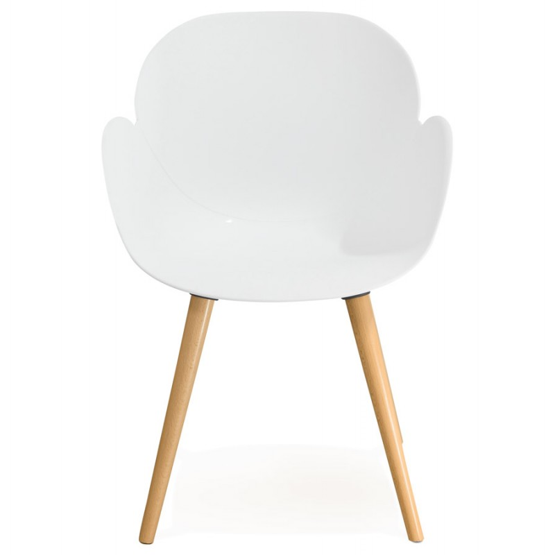 Design chair style Scandinavian LENA polypropylene (white) - image 29225