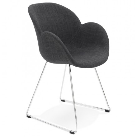 Design chair foot tapered ADELE fabric (dark gray)