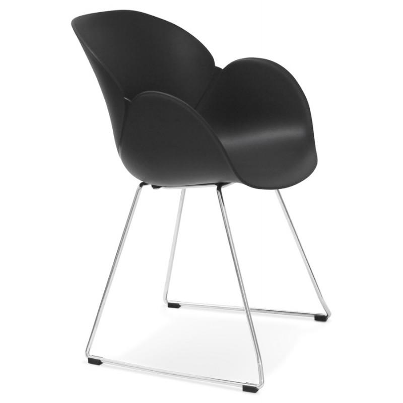 Chaise design pied effilé ADELE en polypropylène (noir) - image 29249