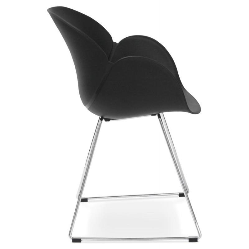 Chaise design pied effilé ADELE en polypropylène (noir) - image 29251
