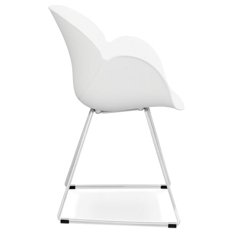 Chaise design pied effilé ADELE en polypropylène (blanc) - image 29264